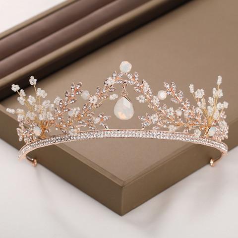 Hiuskoru, tiara ROMANCE  Elegant Tiara in Rosegold