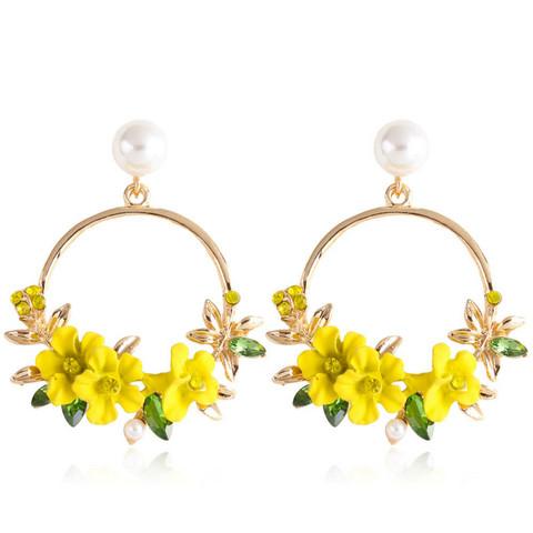 Korvakorut, FRENCH RIVIERA|Pretty Flower Earrings in Yellow