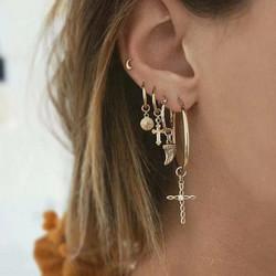 Korvakorut, PAPARAZZI|Set of Trendy Fashion Earrings with Stones