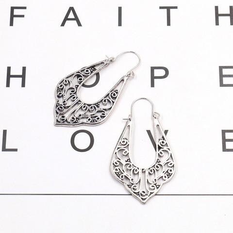 Korvakorut, Bohemian Lace Hanger Earrings in Antique Silver