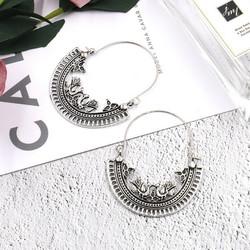 Korvakorut, Bohemian Bird Hanger Earrings in Antique Silver