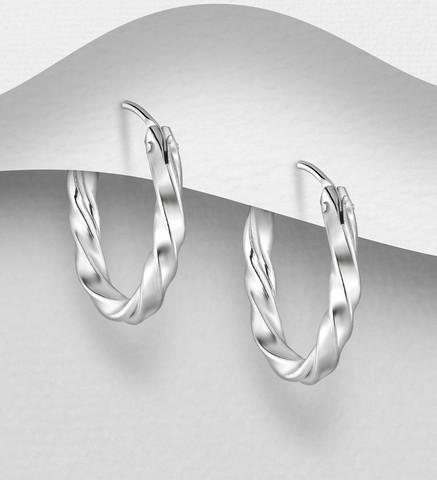 Hopeiset renkaat, Twisted Silver Hoops