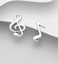 Hopeiset korvanapit, Music -nuottiavain ja nuottikorvakorut