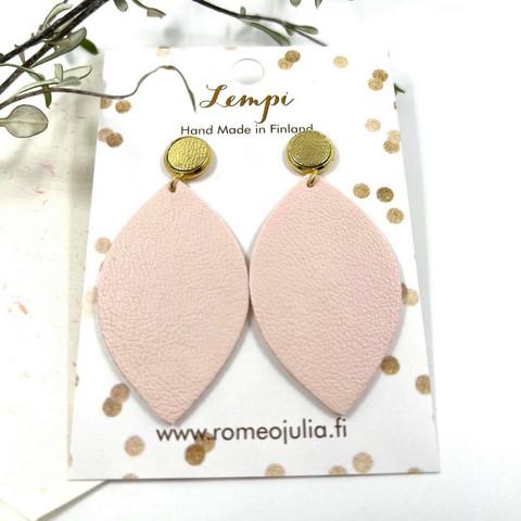 LEMPI-korvakorut, Iisa (nappi, haalea vaaleanpunainen)