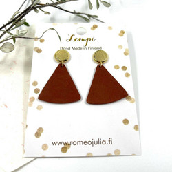 LEMPI-korvakorut, Mini kolmio (nappi, ruosteenpunainen)
