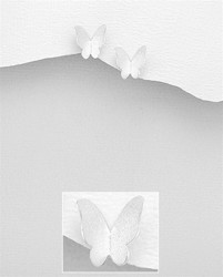 Hopeanapit, PREMIUM COLLECTION|Matt Butterfly Earstuds