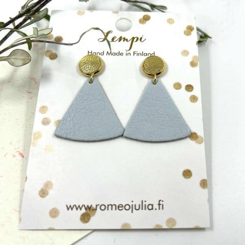 LEMPI-korvakorut, Mini kolmio (nappi, vaaleansininen)