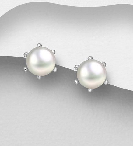 Hopeanapit, PREMIUM COLLECTION Freshwater Pearl Earstuds