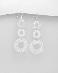 Hopeakorvakorut, PREMIUM COLLECTION|Three Circle Earrings