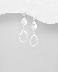 Hopeakorvakorut, PREMIUM COLLECTION|Minimalistic Asymmetrical Earrings