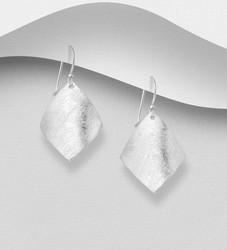Hopeakorvakorut, PREMIUM COLLECTION|Minimalistic Matt Square Earrings