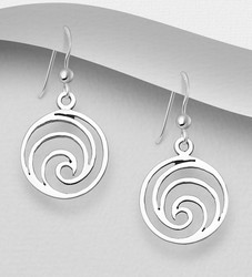 Hopeakorvakorut, PREMIUM COLLECTION|Minimalistic Wave Earrings