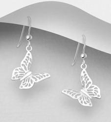 Hopeakorvakorut, PREMIUM COLLECTION|Butterfly Earrings