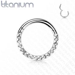 Lävistysrengas, Implant Grade Titanium Front Pyramid Cut Hoops