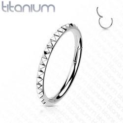 Lävistysrengas, Implant Grade Titanium Pyramid Cut Hoop