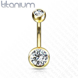 Napakoru, Mini Implant Grade Titanium Double Crystal in Gold
