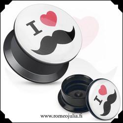 I <3 mustache-plugi 5mm