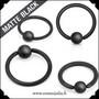 Rengas, black matte 1,6mm