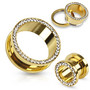 Tunneli 8mm, Multi Gemmed Gold