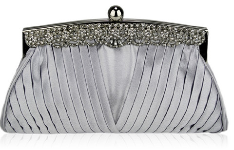 Iltalaukku, Silver Eveningbag with Crystals