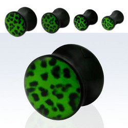 Plugi, Green Leopard 6mm