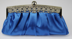 Iltalaukku, Royal Blue with Crystals