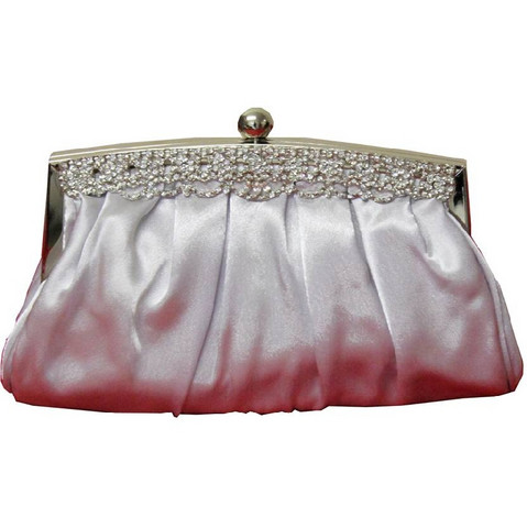 Iltalaukku, Smooth Satin Eveningbag in Silver