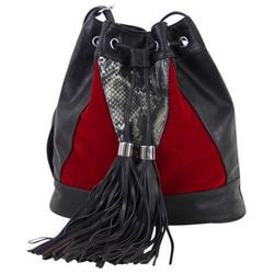 Laukku, Mogano  Musta/Punainen