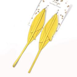 LEMPI-korvakorut, Tulppaani (keltainen, pitkä)