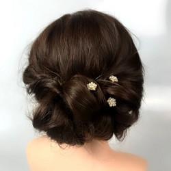 Hiuskoru, Helmi kristallihengettömät (kulta)