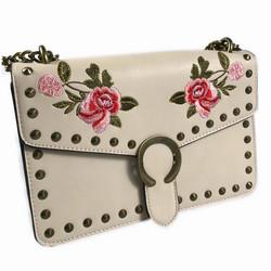 Laukku, Roses Handbag in Beige  (beige käsilaukku)