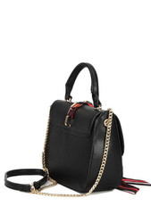 Laukku, BESTINI| Black Handbag with Silk Sash (musta käsilaukku)