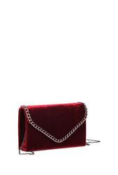 Laukku, BESTINI|Burgundy Velvet Handbag  (viininpunainen samettilaukku)