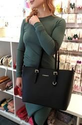 Laukku, Flora & Co|Large Mustard Yellow Womans Handbag (sinapinkeltainen käsilaukku)