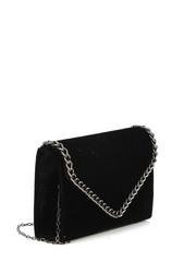 Laukku, BESTINI|Black Velvet Handbag  (musta samettilaukku)