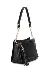 Laukku, BESTINI|Black Handbag with Gold Details (musta pikkulaukku)