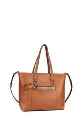 Laukku, BESTINI|Large Womans Handbag in Camel (ruskea laukku)