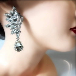 Kristallikorvakorut,  Wing Shaped Crystal Earrings