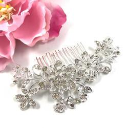 Hiuskoru, kristallikampa Beautiful Flower Twine