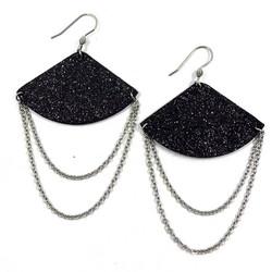 LEMPI-korvakorut, Hetki (musta glitter)