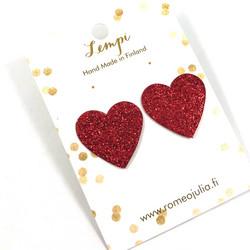 LEMPI-korvanapit, Lempi (punainen glitter)