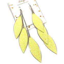 LEMPI-korvakorut, Laura (keltainen glitter, kolmiosainen)