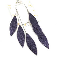 LEMPI-korvakorut, Laura (tähtitaivas glitter, kolmiosainen)
