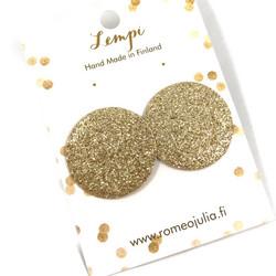 LEMPI-korvanapit,  Aurinko XL (kulta glitter)