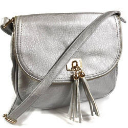 Laukku/DL.PARIS|Silver Handbag with Tassels