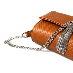 Laukku/DL.PARIS|Brown Handbag with Tassel