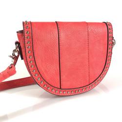 Laukku, MOGANO| Small Coral Handbag (korallinpunainen käsilaukku)