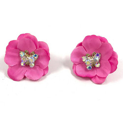 Korvanapit, 50's Flower (pink with butterfly)