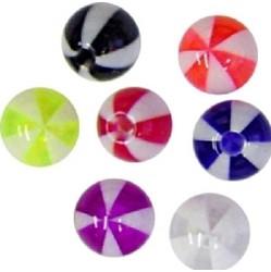 Lävistyskorun irtopallo, Beachball 1,6mm/useita eri värejä