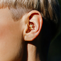 Lävistyskoru, Crescent Moon Shape 316L Surgical Steel Ear Cartilage, Daith Hoop Ring in Blue